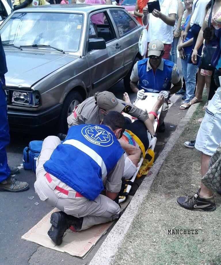 atropelamento 1 Atropelamento no Centro de Maringá