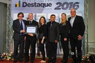 Foto de RICTV Record no Prêmio Destaque Empresarial 2016