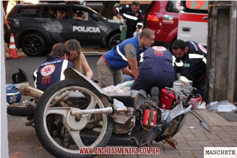acidente motociclista Jovem motociclista morre em acidente