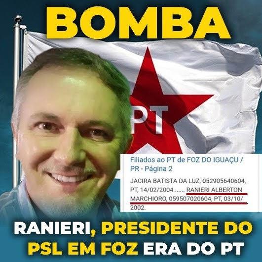Foto de Ex-petista comanda PSL em Foz