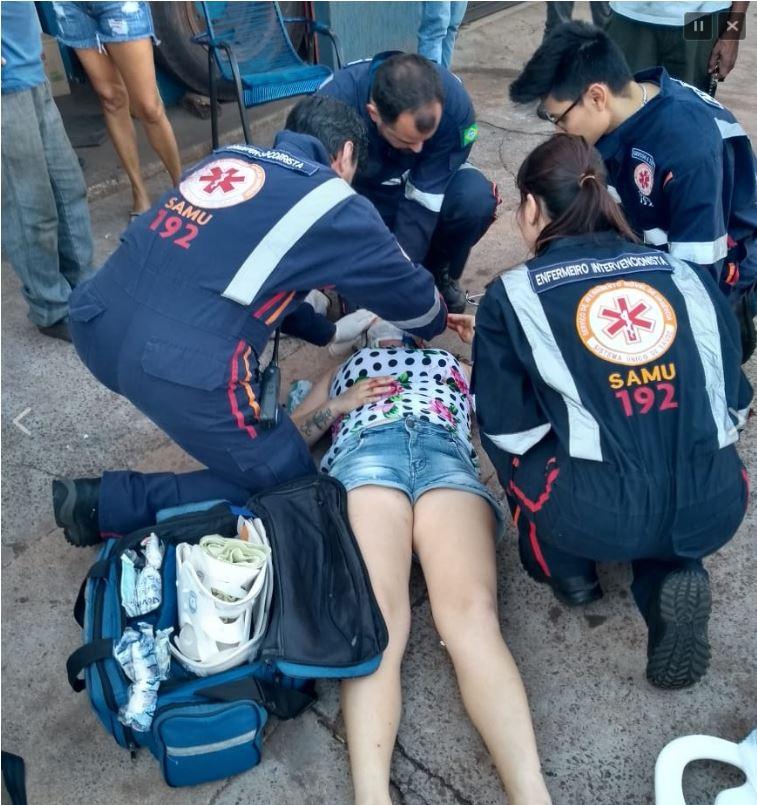 pedestre Após se soltar de carreta, rodado atinge mulher na cabeça em Maringá
