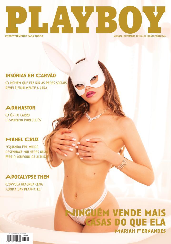 Foto de Playboy com brasileira Mariah Fernandes tem recorde de vendas em Lisboa