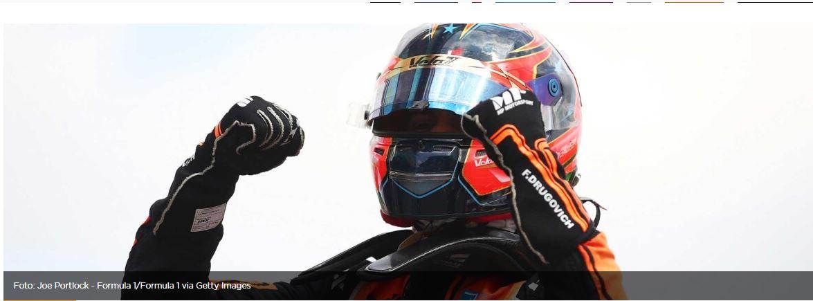 Foto de Felipe Drugovich vence pela segunda vez na Fórmula 2